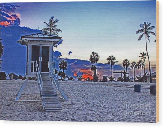 Hippie Beach Wood Print