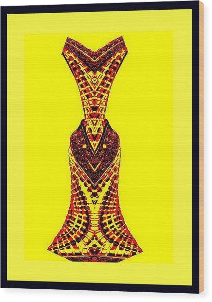 Hippy Dress Wood Print