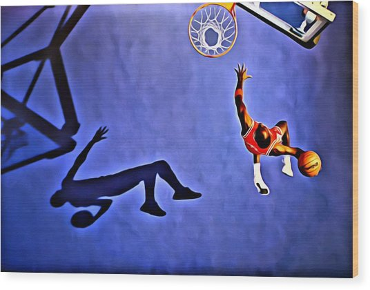 His Airness Michael Jordan Wood Print