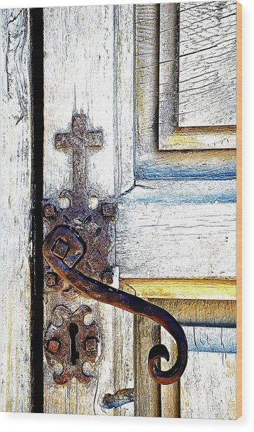 His Door Wood Print