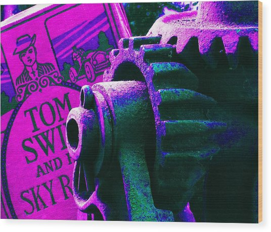His Sky Racer... Wood Print