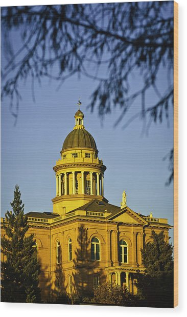 Wood Print featuring the photograph Historic Auburn Courthouse 5 by Sherri Meyer