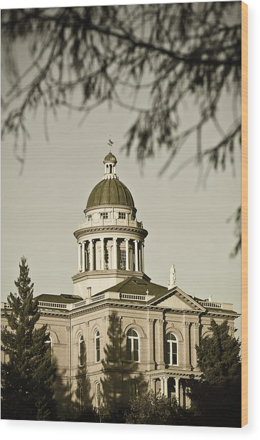 Wood Print featuring the photograph Historic Auburn Courthouse 6 by Sherri Meyer