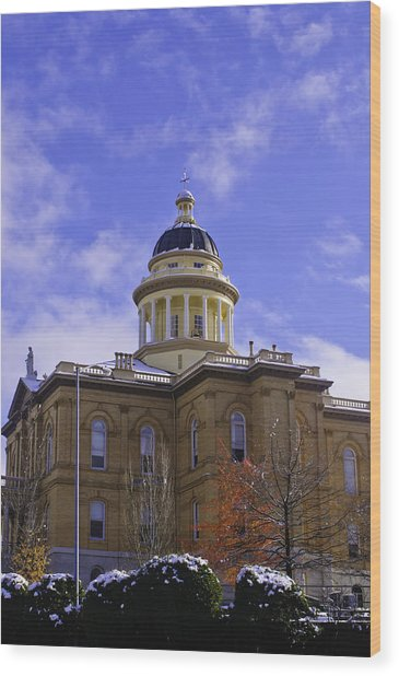 Wood Print featuring the photograph Historic Auburn Courthouse 7 by Sherri Meyer