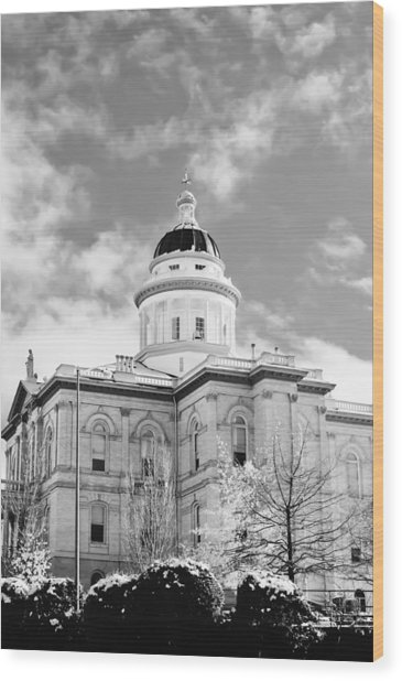 Wood Print featuring the photograph Historic Auburn Courthouse 8 by Sherri Meyer