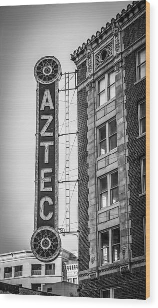 Historic Aztec Theater Wood Print