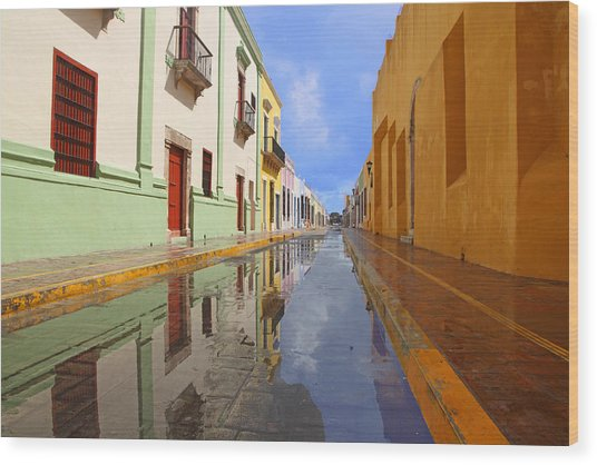 Historic Campeche Mexico  Wood Print
