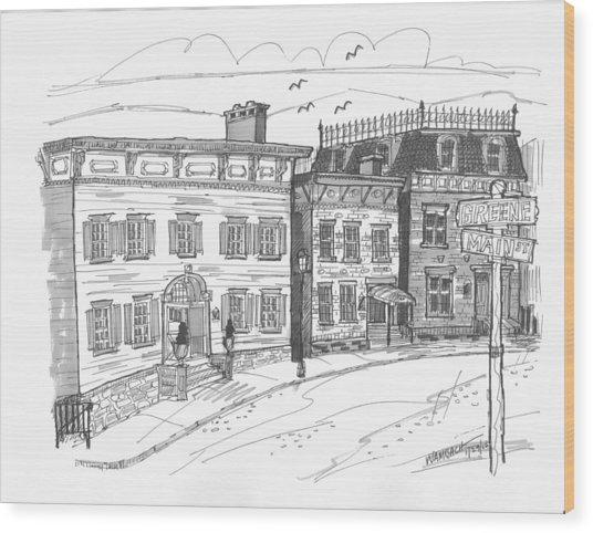 Historic Catskill Street Wood Print