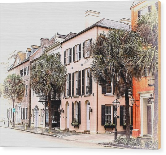Historic Charleston Wood Print