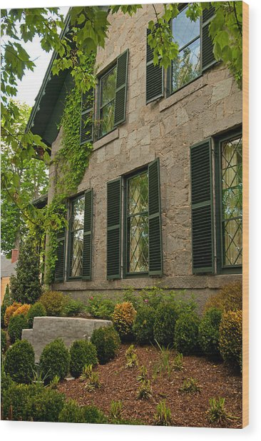 Historic Concord Home Wood Print