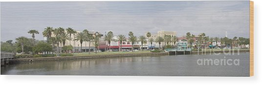 Historic Daytona Florida Pano Wood Print