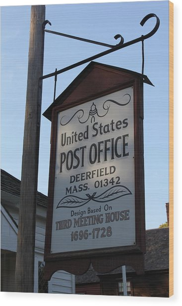 Historic Deerfield Post Office Wood Print by DustyFootPhotography