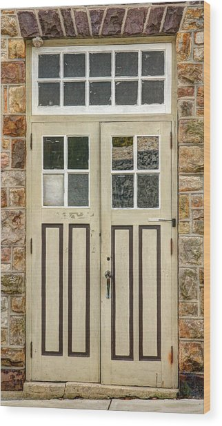 Historic Doors I Wood Print by Lisa Hurylovich
