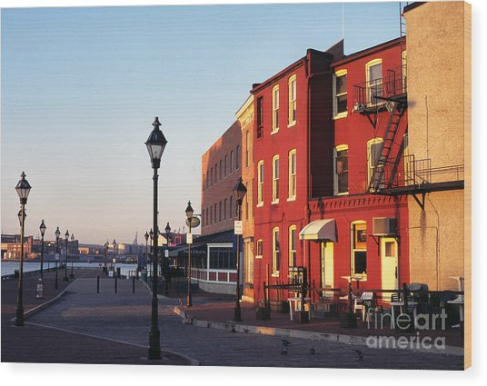 Historic Fells Point Wood Print