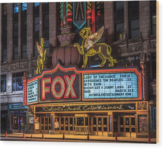 Historic Fox Theatre In Detroit Michigan Wood Print