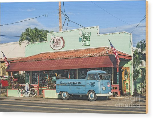 Historic Haleiwa Surf Town On The North Shore Of Oahu Wood Print