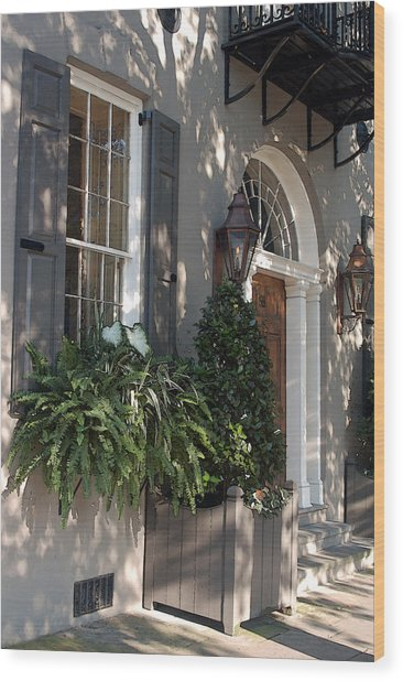 Historic Home - Charleston Wood Print