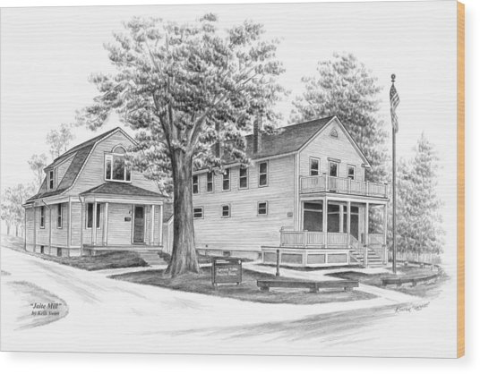 Historic Jaite Mill - Cuyahoga Valley National Park Wood Print