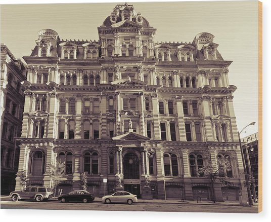 Historic Mitchell Building Wood Print by Anthony Sell