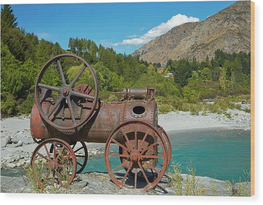 Historic Relic From The Gold Rush Wood Print