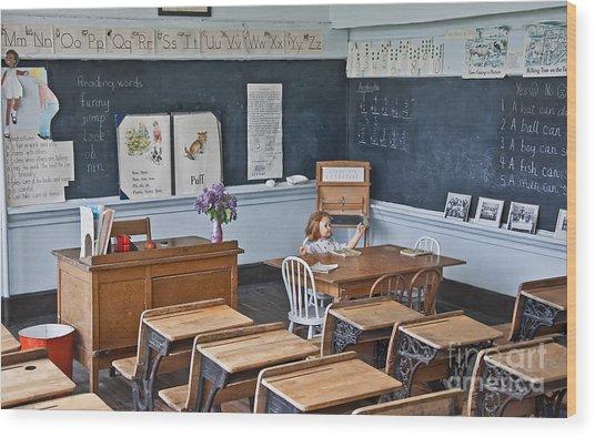Historic School Classroom Art Prints Wood Print