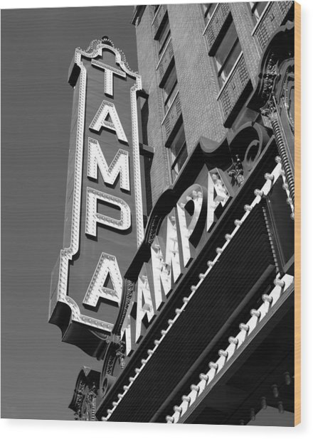 Historic Tampa Wood Print