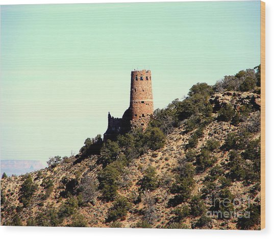 Historic Tower Of Grand Canyon Wood Print by John Potts