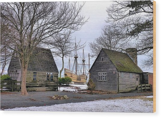 Historic Waterfront Wood Print