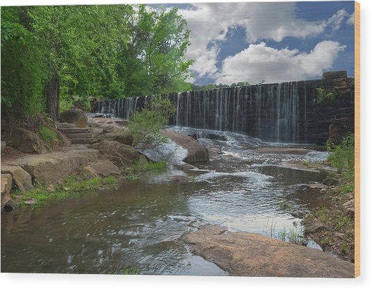 Historic Yates Mill Dam - Raleigh N C Wood Print
