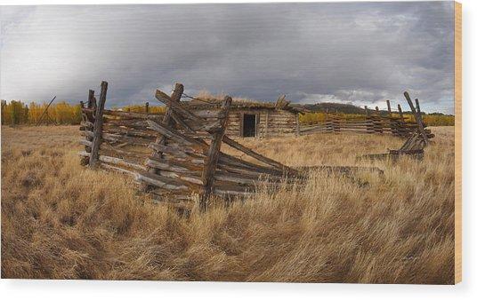 Historical Cabin Montana Wood Print by Leland D Howard