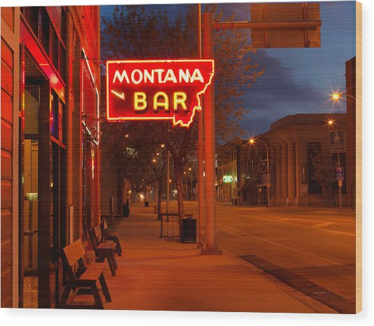 Historical Montana Bar Wood Print