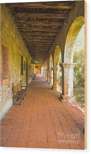 Historical Porch Wood Print