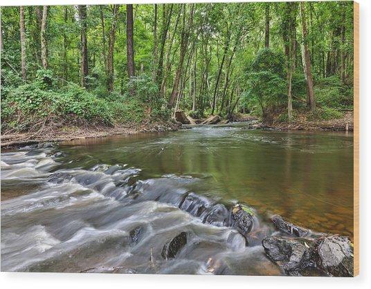 Hitchcock Creek Flow Wood Print