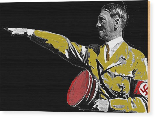 Hitler Saluting #1 Circa 1933-2012  Wood Print by David Lee Guss