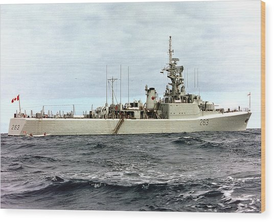 Hmcs Yukon - In Pacific Wood Print