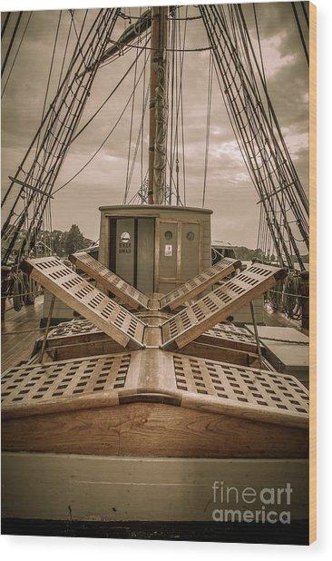 Hms Bounty Hatchway Wood Print