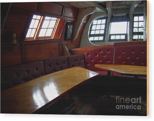 Hms Bounty Twenty Five Cents For The Captain Aka Captains Quarters Wood Print