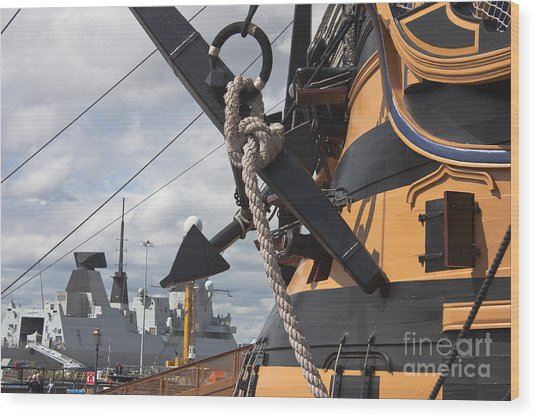 Hms Diamond And Hms Victory Wood Print