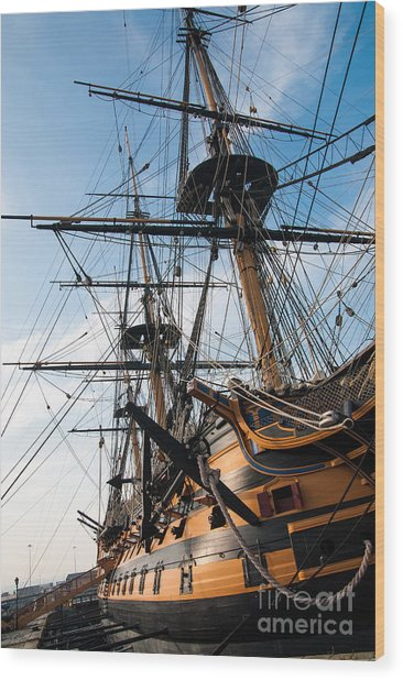 Hms Victory In Portsmouth Dockyard Wood Print