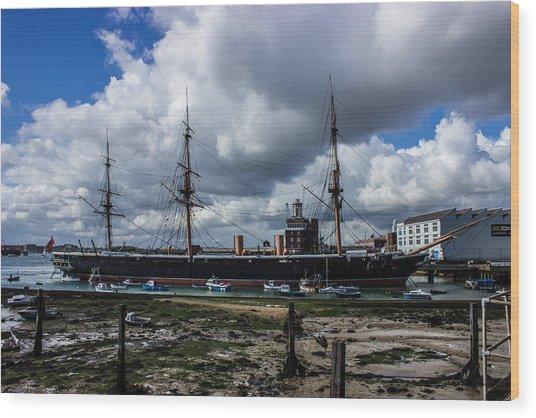 Hms Warrior Portsmouth Historic Docks Wood Print