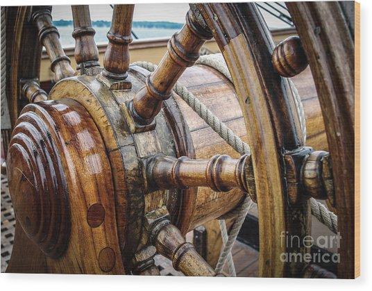 Hms Wheelie Wood Print