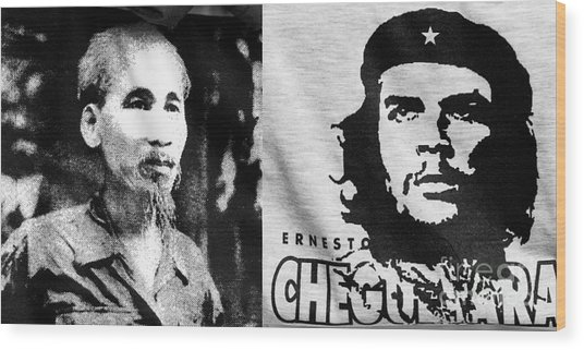 Ho Chi Minh And Che Guevara Wood Print