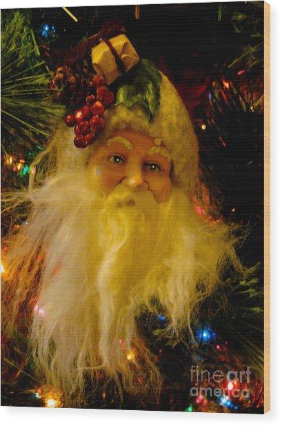 Ho Ho Ho Merry Christmas Wood Print