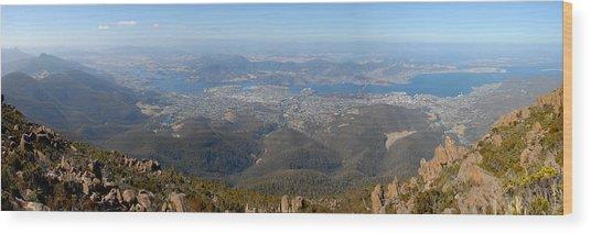 Hobart City Wood Print