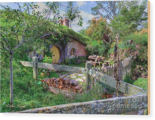 Hobbit Hole 7 Wood Print