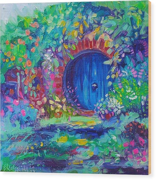 Hobbit House Shire Hobbiton Wood Print