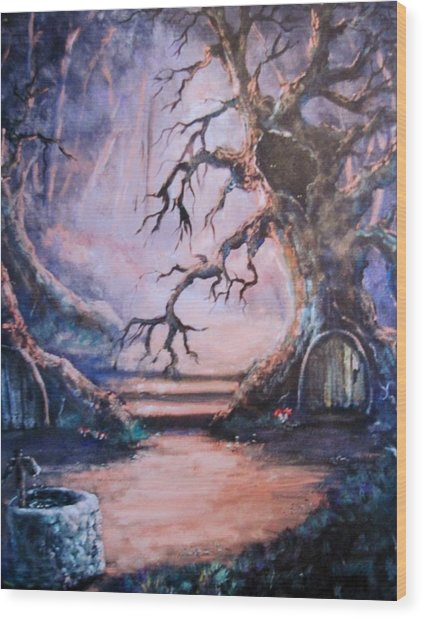 Hobbit Watering Hole Wood Print