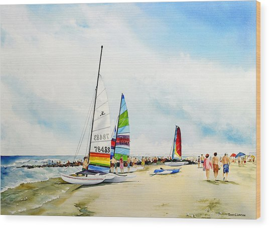 Hobie Cat Sunday Wood Print