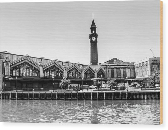 Hoboken Terminal Tower Wood Print