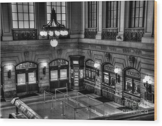 Hoboken Terminal Waiting Room Wood Print